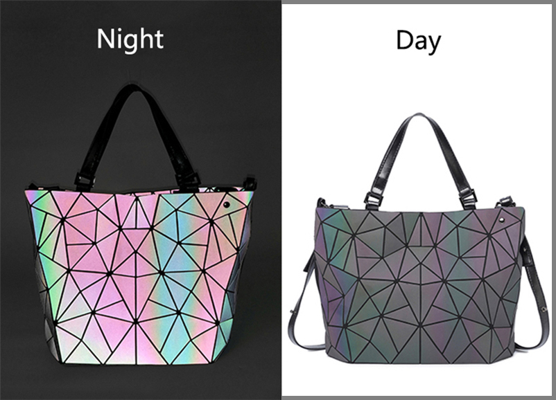 Nevenka Women Luminous Handbag Leather Shoulder Bag Women Geometric Handbags 2018 Large Tote Bag for Women Leather Crossbody Bag11