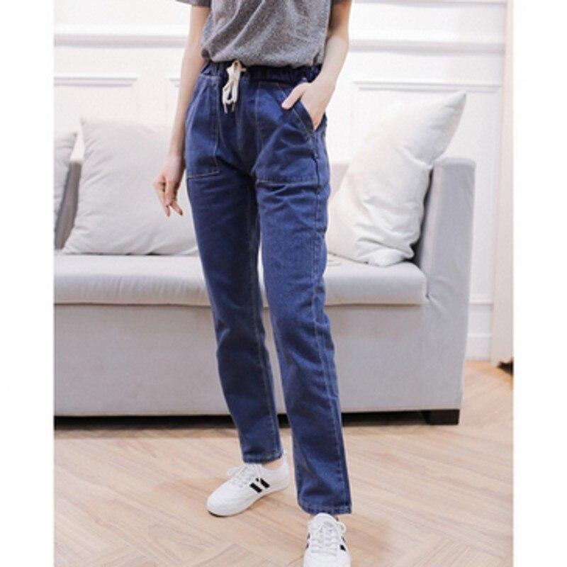 2017 Spring New Basic Skinny font b Women b font Jeans Ankle Nine Pants Slim Elastic