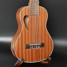 "2"" баритон Сапеле 6 струн укулеле Уке Гавайи lele мини маленький guitalele путешествия акустическая гитара Ukelele"