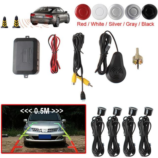 Dual Core CPU Car Video Parking Sensor Reverse Backup Radar Assistance, Auto parking Monitor Digital Display and Step-up Alarm