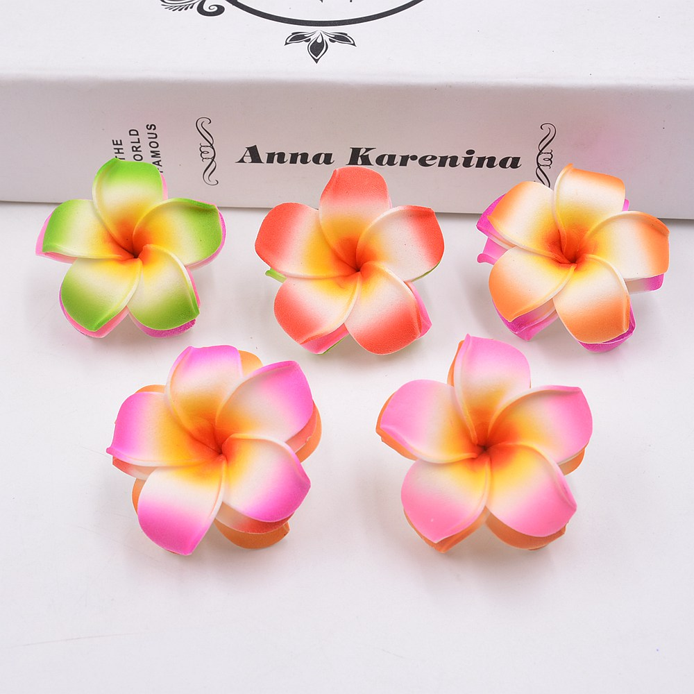10pcs (4cm/flower) Artificial multicolor Egg flower head / PE foam Hawaiian flower wedding party decoration craft flower ...