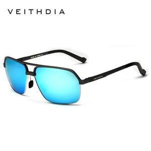 Image 1 - Veithdia alumínio magnésio polarizado óculos de sol masculinos quadrados vintage masculino óculos de sol acessórios oculos para homem 6521