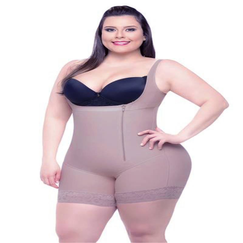 2b3e1adb695 ... Plus Size 6XL Hot Latex Women `s Body Shaper Post Liposuction Girdle  Clip Zip ...