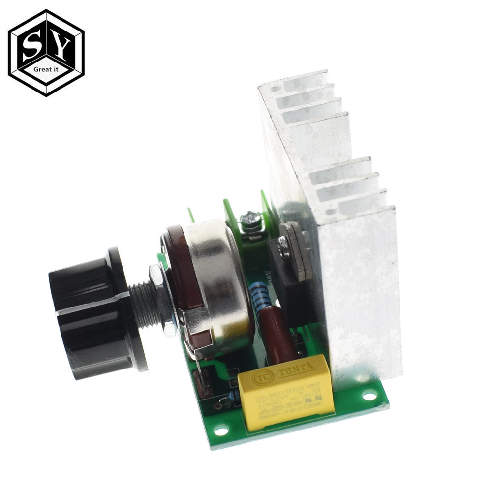 Active Components Electronic Components & Supplies Cheap Sale Professional Voltage Regulators 4000w 220v High Power Scr Speed Controller Electronic Voltage Regulator Governor Thermostat Bs