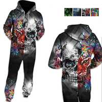 Centuryestar 3D Hoodies Pyjama One Piece Pajamas Onesie Adults Men Pijama Hombre Jumpsuit Mens Winter Zipper Ropa Hombre Clothes