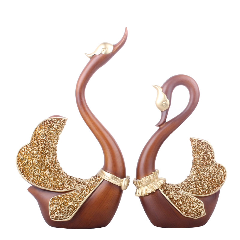Handwork Couple Swan Resin Furniture Figurines Swan Miniature Couples Lovers Home Decoration Miniatures Wedding Christmas GiftHandwork Couple Swan Resin Furniture Figurines Swan Miniature Couples Lovers Home Decoration Miniatures Wedding Christmas Gift