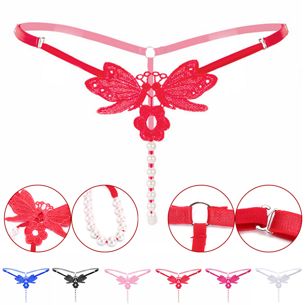 Adult Women Crotch Flirt Briefs Erotic Fetish Bdsm Game Clit Bead Vagina Stimulator Sexy Tools Jewelry Tool