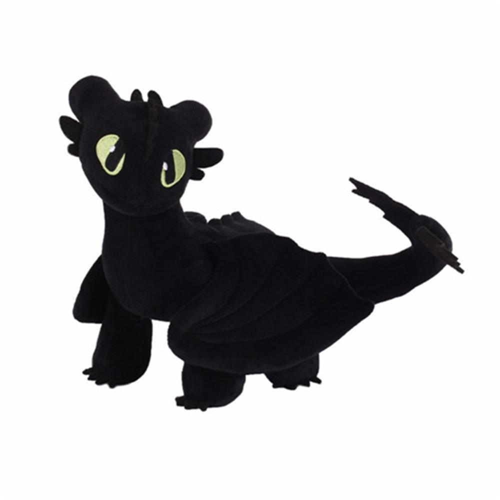 60cm Giant 2019 How To Train Your Dragon 3 Plush Toy Toothless Light Fury/Night Fury Stuffed Plush Doll Gift For Kids Birthday