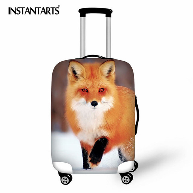 INSTANTARTS 2018 Cute fox Cover for Suitcase Bags Travel Luggage Accessories for Men's Women Waterproof Protection Suitcase Case