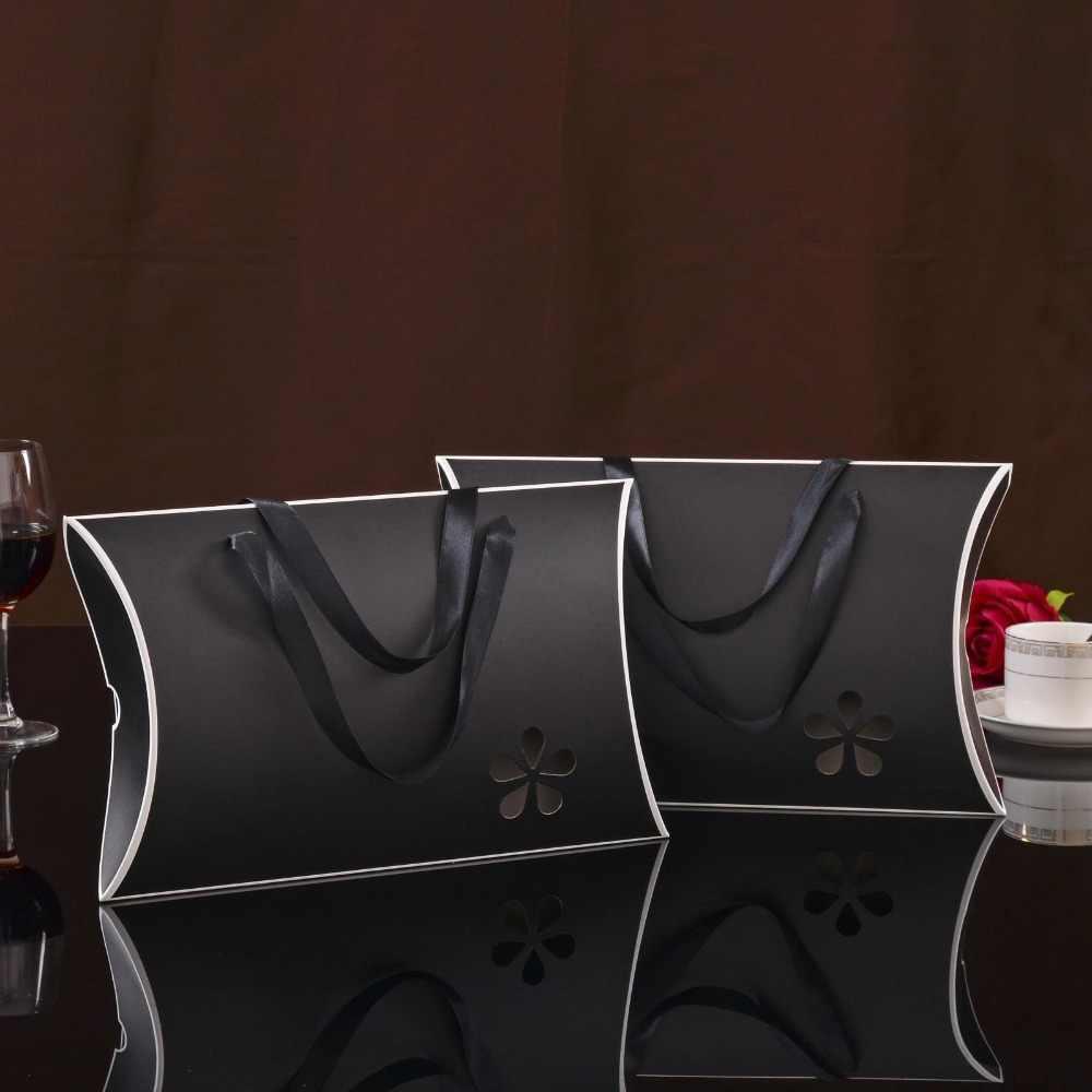 Donne Estensioni Dei Capelli Umani Del Virgin Bundles Scatole per Imballaggio di Carta Vuoto-intagliato del Cuscino di Disegno Vestiti di forma Della Caramella scatola di Imballaggio