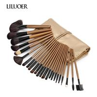 LILUOER Hight Quality Beauty 24 Pieces Makeup Brushes Full Professional Makeup Kit