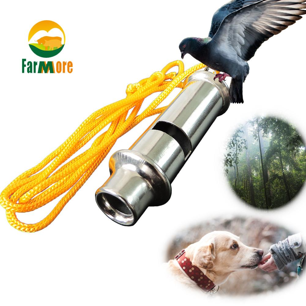 1Pcs Metal Pet Dog Pigeon Training Whistle Flute Ultrasonic Whistle Sport Outdoor Survival Tools Lifesaving Equipment