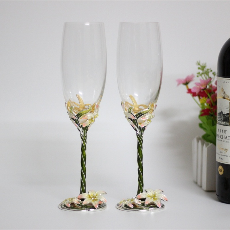 Online buy wholesale crystal champagne flutes from china for Buy champagne glasses online