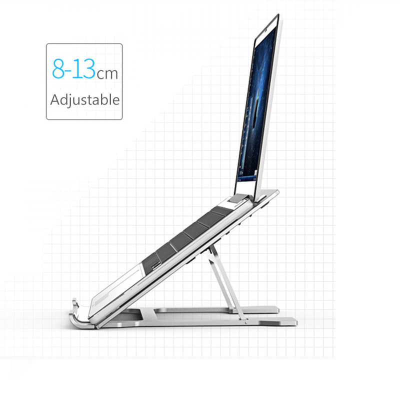 Adjustable Angle Folding Aluminum Alloy Laptop Stand For Macbook Lenovo Dell Asus IPad Tablet Portable Notebook Cooling Bracket