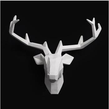 2018 ограниченное по времени украшение дома аксессуары мебель деревянная Смола голова животного подвесной кулон барная Фреска олень гостина...
