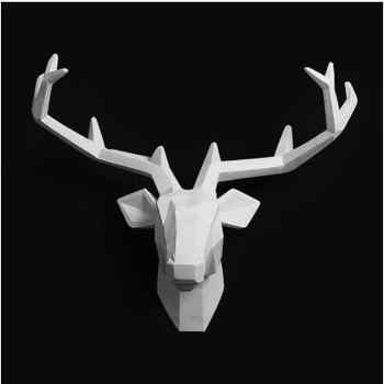 2018 Time-limited Home Decoration Accessories Furnishing Wood Resin Animal Head Hanging Pendant Bar Mural Deer Living Room Wall - DISCOUNT ITEM  49% OFF All Category