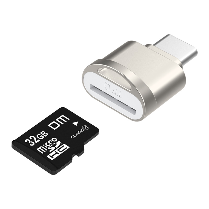 DM CR007 Mini Type C usb2.0 Micro SD TF Memory card reader for Mac Huawei Xiaomi LG Sony Tablets Type C Cardreader-in Card Readers from Computer & Office