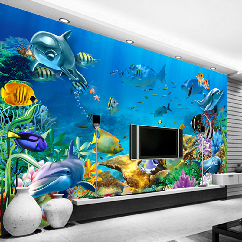 Underwater World Custom 3D Wallpaper Murals Wall Papers Home Decor Living Room Sofa TV Backdrop Wall Decorative Photo Wallpaper