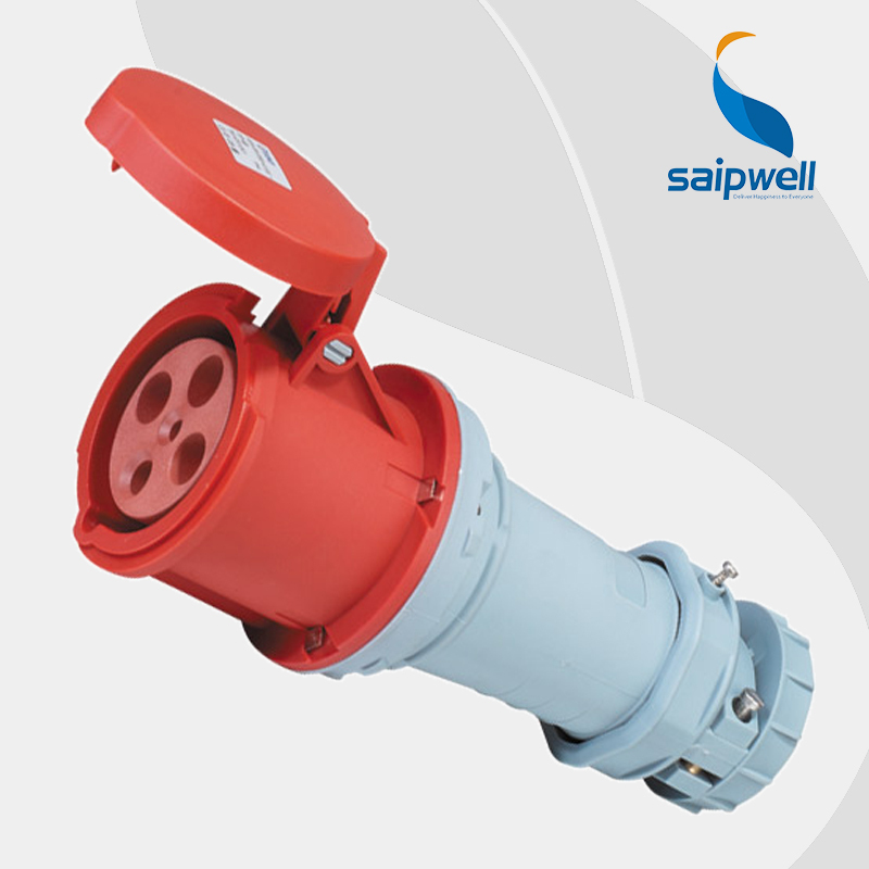 Wholesale Saipwell ac socket waterproof IP44 4P 63A 400V EN / IEC 60309-2 Female connector socket SP1241Wholesale Saipwell ac socket waterproof IP44 4P 63A 400V EN / IEC 60309-2 Female connector socket SP1241