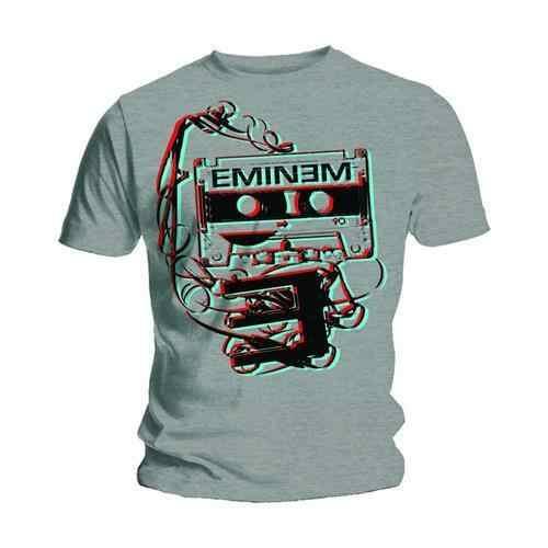 Eminem Tape Cassette Poster Slim Shady Rap Muziek Officiële Mens Grey T-shirt Gift Print T-shirt Hiphop Tee Shirt goedkope groothandel