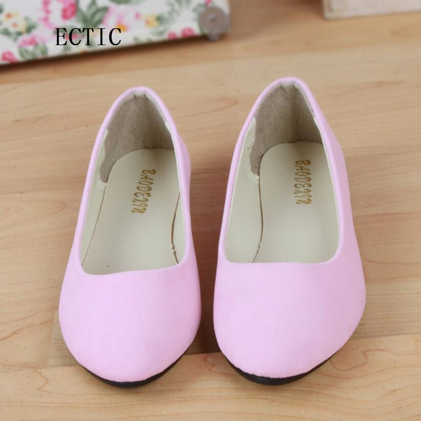2017 fEMALE candy color Shoes Ballet Flats Women Flat Shoes Woman Ballerinas Black plus Size Casual Shoe Sapato Womens Loafer drfargo spring summer ladies shoes ballet flats women flat shoes woman ballerinas pointed toe sapato womens waved edge loafer