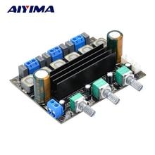 Wholesale AIYIMA DC12V 24V 100W 2.1 Digital Subwoofer Power Amplifier Board TDA3116D2 3 2.1 Channel HIFI Stereo Power Amplifier Board