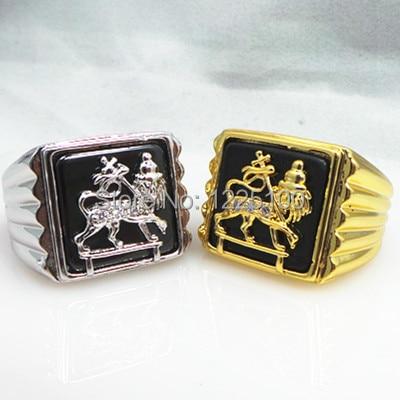 Прямая поставка, модные и уникальные хрустальные кольца из нержавеющей стали 316l со львом Иудой/золотым кольцом, кольцо на палец льва