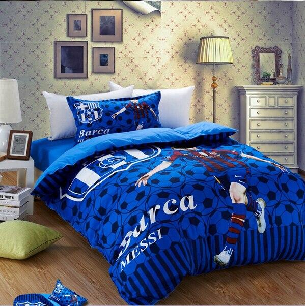 Barcelona Bedding Set Designer Bedding FC Barcelona Kids Sheet Messi  Boys/Man