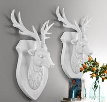 35*29*11CM Creative three-dimensional animal head mannequin deer wall hanging living room Wedding clothing Resin 1PC A328