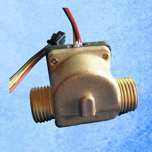 USC-HS21TB Hall Effect Flow Sensor Water 1-30L/min G1/2 Threaded Ends Repeat Error 1% Saier Digital Flow Sensor Meter iSentrol