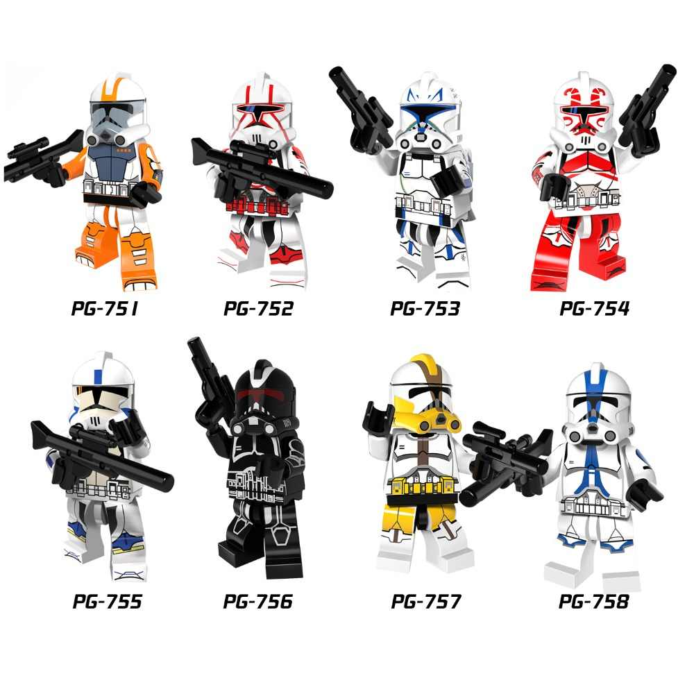 Single Sale Star Wars clone troopers soldiers Imperial Army Military Mini Building Blocks Figure Toy kids gift Compatible Legoed