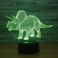 Triangle Dragon 3d Dinosaur Lamp Led Lovely 7 color change 3D Lamp Ambient Lamp Gift Lovely 7 color change 3D Lamp 3d лампа 3d lamp утенок