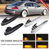 A Pair Dynamic Flowing LED Side Marker Indicator Sequential Light For BMW 7 Series E65/E66/E67/E68 2001 2002 2003 2004 2008