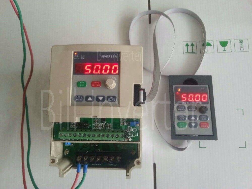 Vfd inverter free shipping coolclassic inverter jfd 2200w for Single phase motor vfd
