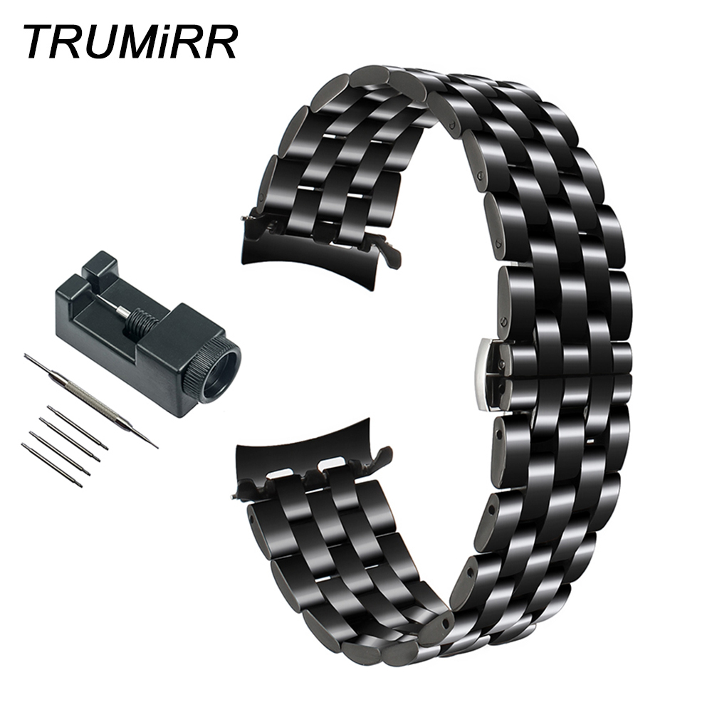 22mm Stainless Steel Watchband Curved End Strap for Samsung Gear S3 Classic Frontier Watch Band Butterfly Buckle Belt Bracelet22mm Stainless Steel Watchband Curved End Strap for Samsung Gear S3 Classic Frontier Watch Band Butterfly Buckle Belt Bracelet