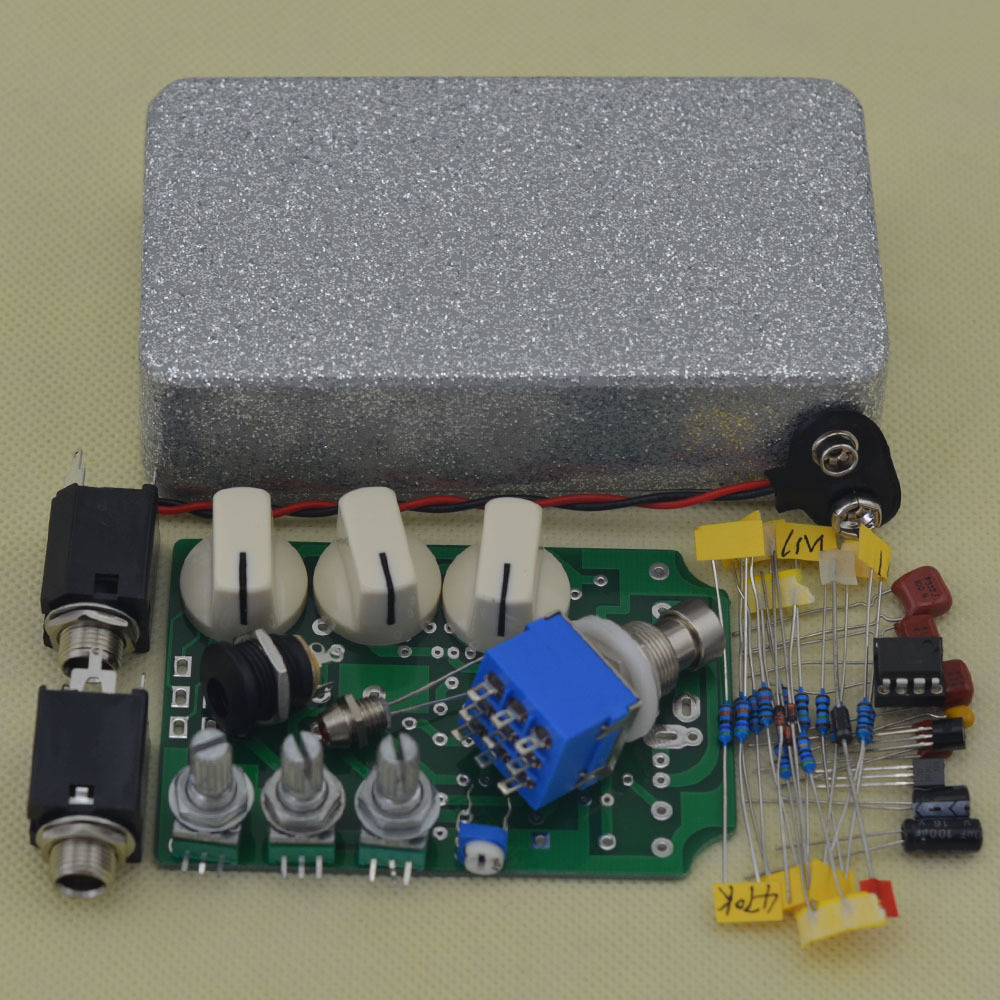 DIY Overdrive Guitar Effect Pedal True Bypass Electric guitar stompbox pedals OD1 Kits FS mooer ensemble queen bass chorus effect pedal mini guitar effects true bypass with free connector and footswitch topper