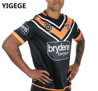 YIGEGE nrl Jersey 2019 WESTS TIGERS home Rugby jerseys NRL National Rugby League shirt Wests Tigers shirts s 3xl