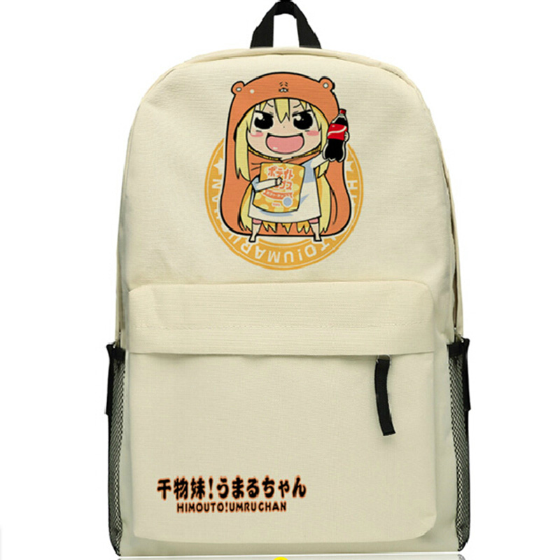 Himouto! Umaru-chan School Bags for Teenagers Travel Backpacks Anime Shoulder Bags Zipper Unisex Backpack Rucksacks Mochila 2016 new anime himouto umaru chan cosplay wig peruca