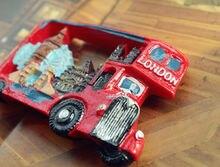 REINO UNIDO Londres Autobús de Dos Pisos Monumentos Turísticos Recorrido Recuerdo Imán de Nevera de Resina 3D Arte