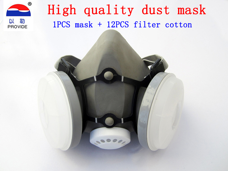 PROVIDE 9680B respirator mask Brand protection high quality respirator dust mask against PM2.5 Industrial dust Welding dust mask provide respirator dust mask high quality gray dust mask 10 piece filter cotton painting welding respiration mask