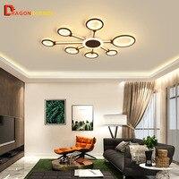 Современный светодиодный потолочный светильник Dragonscence Новый дизайн ОРГСТЕКЛО потолочный светильник для гостиной спальня столовая офис сп