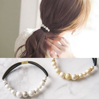 The new Han edition pearl beaded hair bands Original hair headwear, free home delivery han edition hair pearl four petals small clip hairpin edge clip a word free home delivery