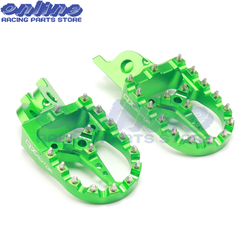 Aluminum CNC motorcycle foot rests footrest Pegs Pedals For KX125 KX250 1997-2001 KX500 1988-1990 free shipping aluminum cnc motorcycle foot rests footrest pegs pedals for kx125 kx250 1997 2001 kx500 1988 1990 free shipping