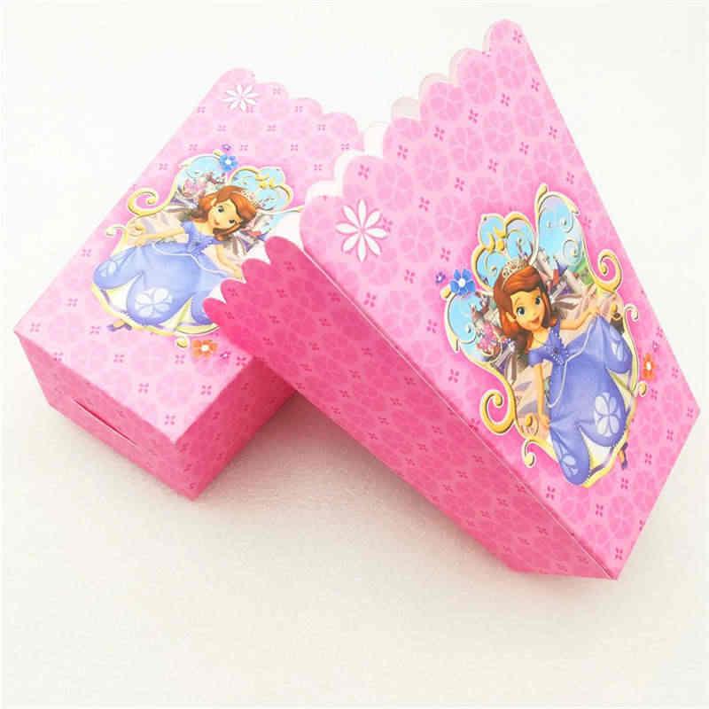 Disney Princess Sofia papier tematyczny serwetka pod talerzyk do kubka słomkowy obrus ślub Kid prezent urodzinowy dla niej torba Banner Candy Box Supply