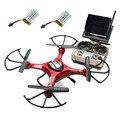 Moda RC Quadcopter JJRC H8D RC Quadcopter Drone 5.8G FPV HD Camera + Monitor + 2 Bateria Xmas Crianças Dom Brinquedos Atacado
