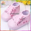Hot sale Girls Baby shoes sequins lace-Up toddler girl boots prewalker antiskid Christmas Booties Sneakers #2X0027 3 pair/lot