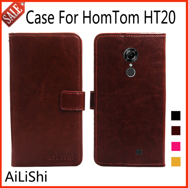 AiLiShi Flip Leather Case For HomTom HT20 Case Luxury Protective Cover Phone Bag Wallet 4 Colors With Card Slot !