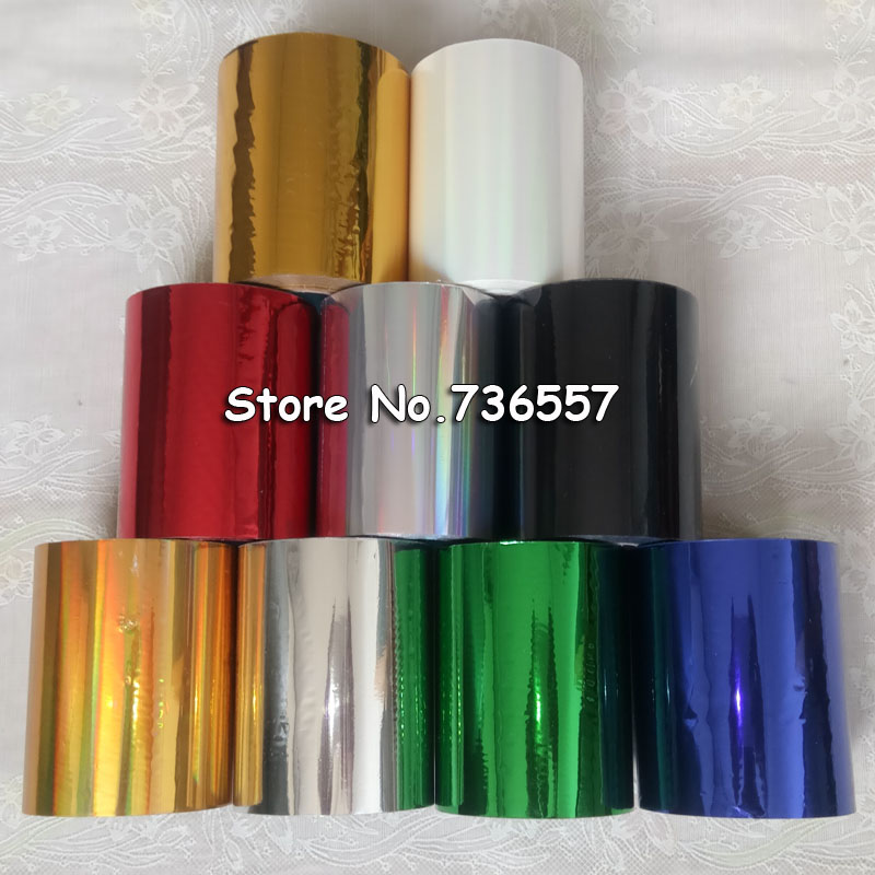 9pcs Golden Siver Red Black Blue Hot Stamping Foil Multicolor Hot Gold Foil Paper DIY Material
