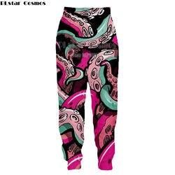 Новая мода 3D брюки классический лист сорняков щупальца осьминога Мэрилин Монро печать мужские повседневные Хип-хоп стиль джоггеры брюки