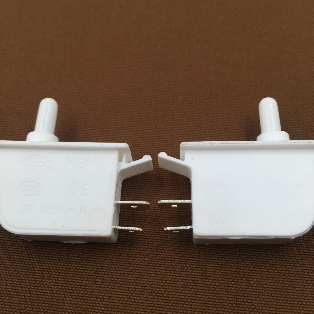 Factory Supplied 5 Pcs AC250V 2A SPST NO Momentary White Plastic Refrigerator Door Light Switch plastic rod spring wobble stick type momentary enclosed limit switch
